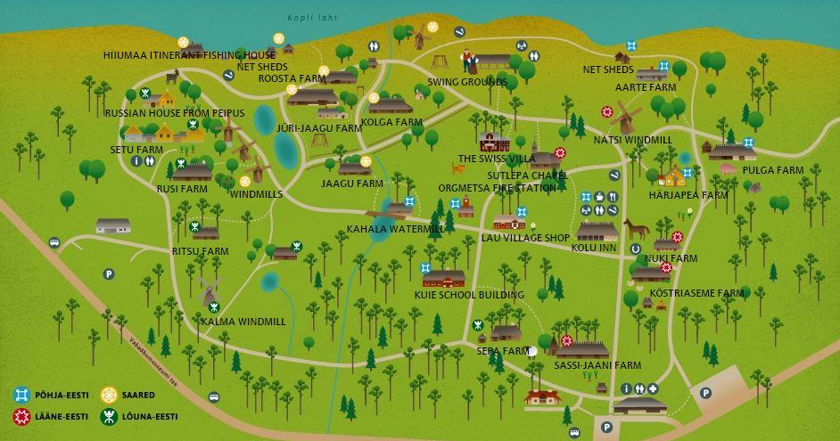 露天博物館地圖